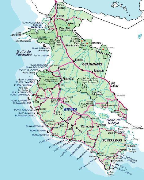 Guanacaste Beach Map