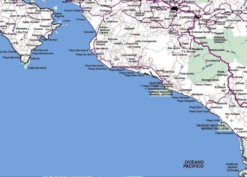 Mapas Playas Pacífico Central